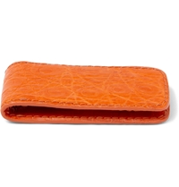 Santiago Gonzalez Magnetic Crocodile Money Clip Orange