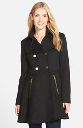 Petite Women's Laundry By Shelli Segal Double Breasted Fit And Flare Coat