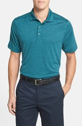 Men's Big And Tall Cutter And Buck 'Chelan' Drytec Moisture Wicking Polo Midnight Green Heather
