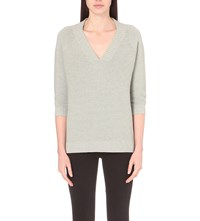 French Connection Mozart Knitted Jumper Light Grey Mel