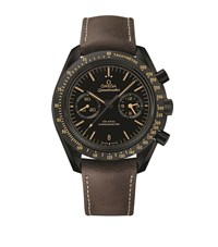 Omega Speed Master Vintage Black Moon Watch Unisex Silver
