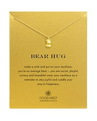 Dogeared Bear Hug Necklace 16 Gold