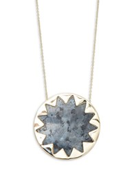 House Of Harlow Oversized Starburst Pendant Necklace Gold