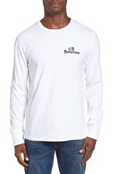 Brixton Men's Tanka Graphic Long Sleeve Crewneck T Shirt White