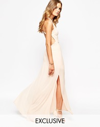 Goldie Maxi Dress With Open Back Nude