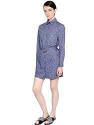 Kenzo Cactus Printed Cotton Chambray Dress