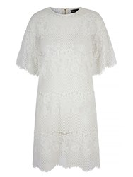 Mela Loves London Lace Open Back Tunic Dress Cream