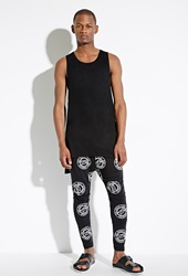Forever 21 Boy London Emblem Print Sweatpants Black White