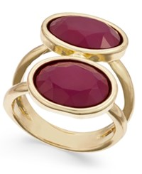 Inc International Concepts Gold Tone Double Stone Statement Ring Only At Macy's