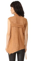 3.1 Phillip Lim Sleeveless Mock Neck Pullover Toasted Coconut