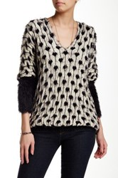 Chaudry Dot And Stripe Dolman Sweater Multi
