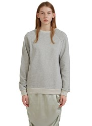 Baserange Jounich Round Neck Fleece Sweater Grey