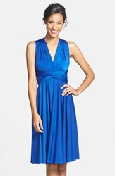 Women's Dessy Collection Front Twist Sapphire