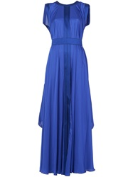 Maison Rabih Kayrouz Flared Sleeveless Gown Blue