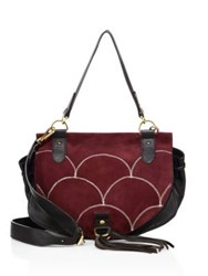 See By Chloe Collins Suede And Leather Saddle Bag Dark Wood