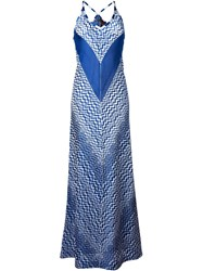 Missoni Zig Zag Print Dress Blue