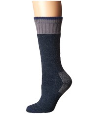 Carhartt Heavyweight Merino Wool Blend Boot Sock Denim Women's Crew Cut Socks Shoes Blue