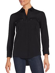 Iro Point Collar Button Down Shirt Black