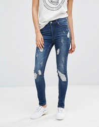 Cheap Monday Second Skin Skinny Jeans 30 Carbon Torn 30 Blue