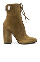 Gianvito Rossi Suede Lace Up Boots In Green