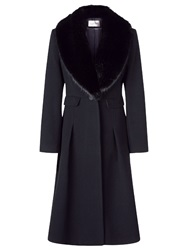 Kaliko Faux Fur Collar Coat Black