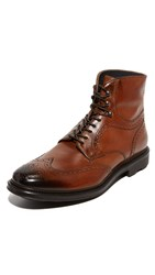 To Boot Hobson Leather Wingtip Boots Cognac