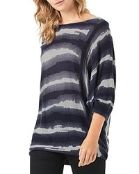 Phase Eight Becca Tie Dye Batwing Sweater Navy Gray