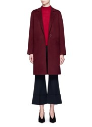 Theory 'Peirette' Double Faced Wool Cashmere Coat Red Purple