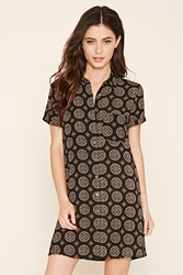 Forever 21 Abstract Print Shirt Dress