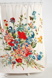 Urban Outfitters Romantic Floral Scarf Shower Curtain Multi