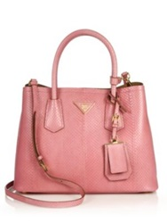 Prada Ayers Double Bag Aqua Nero Black Petalo Pink