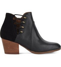 Aldo Montasico Leather And Suede Ankle Boots Black Leather