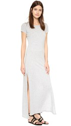 Velvet Ziggy Slub Maxi Tee Dress Heather Grey