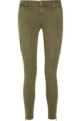 Current Elliott The Flat Pocket Mid Rise Skinny Jeans Army Green