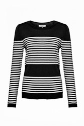 Great Plains Betty Stripe Scoop Neck Top Black