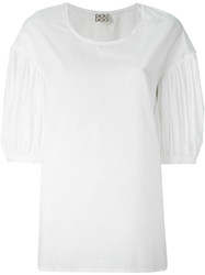 Douuod Pleated Sleeve Top