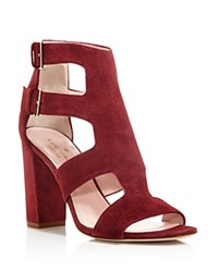 Kate Spade New York Ilemi Cutout T Strap Block Heel Sandals Red Chestnut
