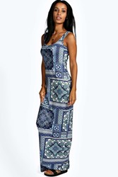 Boohoo Scoop Neck Maxi Dress Multi