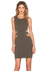 Twin Sister Circle Cut Out Mini Dress Olive
