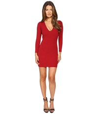 Dsquared Wool Jersey Dress Red
