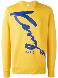Kenzo 'Signature' Sweatshirt Yellow And Orange