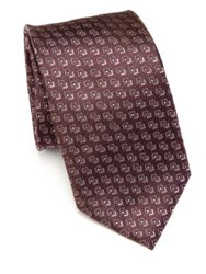 Pal Zileri Abstract Silk Tie Berry