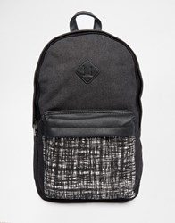 New Look Backpack With Patterned Pocket Black