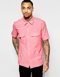 American Apparel Short Sleeve Chambray Shirt Pink