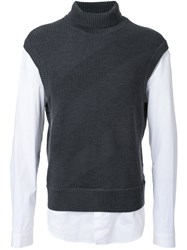 Juun.J Turtle Neck Shirt Grey