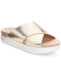 Wanted Marsh Crossband Footbed Sandals Women's Shoes Gold