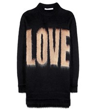 Givenchy Printed Mohair And Wool Blend Sweater Black