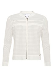Superdry Analee Lacy Bomber Jacket Winter White