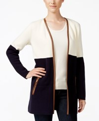 Charter Club Colorblocked Cardigan Only At Macy's Vanilla Bean