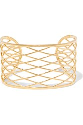 Noir Jewelry Raveled Gold Tone Cuff